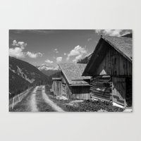 Cabins in Tirol Canvas Print