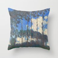 Throw Pillow featuring Monet Poplars On The Riv… by Palazzo Art Gallery