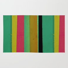 Stripes on Aqua Rug
