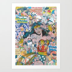 Vintage Comic WonderWoma… Art Print