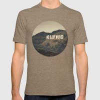 Old Hollywood Mens Fitted Tee Tri-Coffee SMALL
