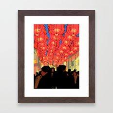 Lantern Festival Framed Art Print