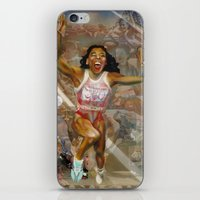 AMERICA ON HER BACK iPhone & iPod Skin