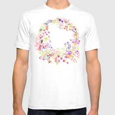 Soft bunnies pink SMALL Mens Fitted Tee White