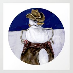 Frosty the Cowboy Art Print
