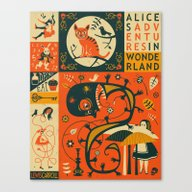Canvas Print featuring ALICE'S ADVENTURES IN WO… by Jazzberry Blue