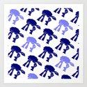 AT-AT's in Blue Art Print