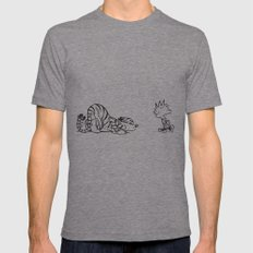 calvin and hobbes Mens Fitted Tee Tri-Grey SMALL