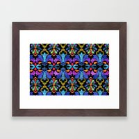 Dramatic Damask Framed Art Print