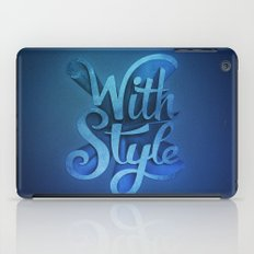 With Style! 3D Typography  iPad Case