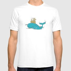 SUBMARINE SMALL Mens Fitted Tee White