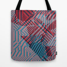 Dazzle Camo #02 - Blue & Red Tote Bag