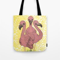 Flamingos  Tote Bag