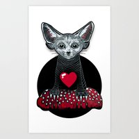 Little Fenek:::Big-hearted Art Print