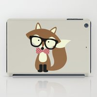 Glasses and Bow Tie Hipster Brown Fox iPad Case