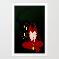 Mischief from Shadows (Lady Loki as Scarlet Witch) Art Print