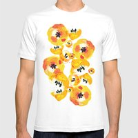 Water Flowers Mens Fitted Tee White SMALL