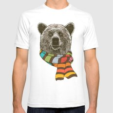 Winter Bear Mens Fitted Tee White SMALL
