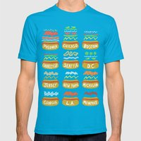 Hot Dogs! Re-do Mens Fitted Tee Teal SMALL