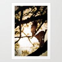 leaf art Art Print