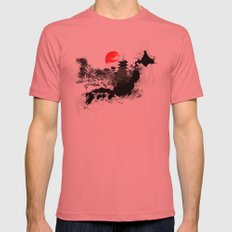 Abstract Kyoto - Japan Mens Fitted Tee Pomegranate SMALL