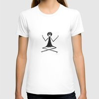 Yoga Womens Fitted Tee White SMALL