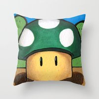 1Up Super Mario Throw Pillow
