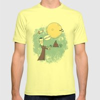 Goodbye Werewolf Mens Fitted Tee Lemon SMALL