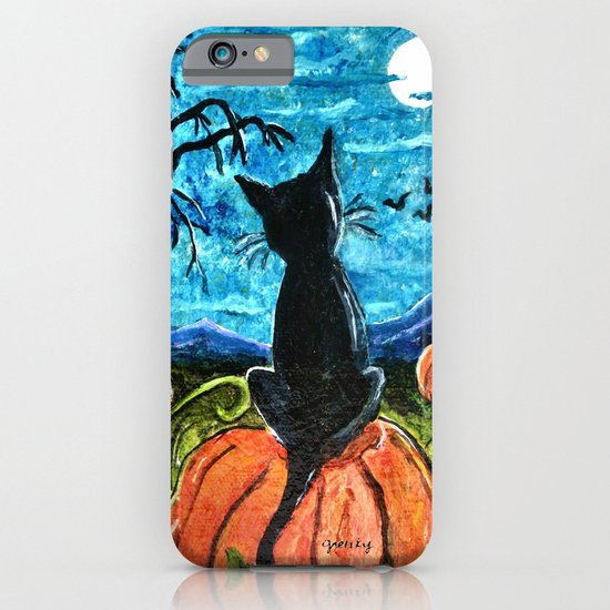 Cat in Pumpkin Patch iPhone & iPod Case