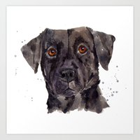 LABRADOR Painting, Dog P… Art Print