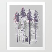 The trance of a deer Art Print