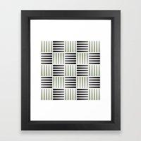 B/W crosshatch pattern Framed Art Print