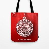Happy Holidays - Christm… Tote Bag