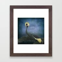 Crowned Crane Framed Art Print