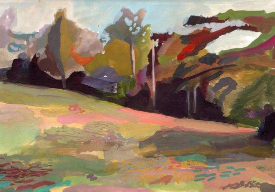 Maine, Pumpkin Hill 2011 Art Print