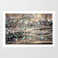 Glitter Is A Girl's Best… Art Print
