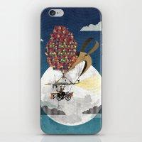 Flying Bicycle iPhone & iPod Skin