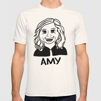 Amy Poehler Mens Fitted Tee Natural SMALL