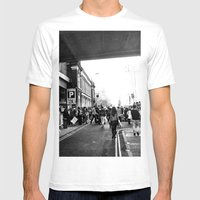 Along Brick Lane Mens Fitted Tee White SMALL