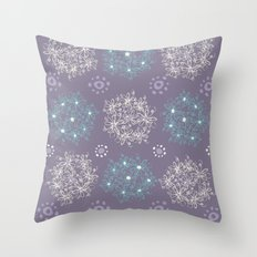 Lilac Clusters Throw Pillow