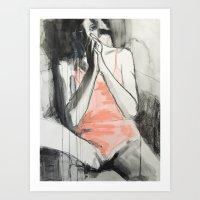 She Sat Looking Up At Hi… Art Print