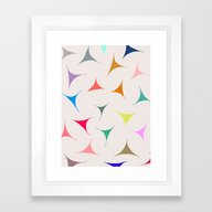 Pattern 50 Framed Art Print