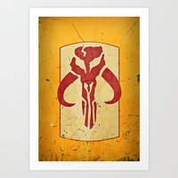 Mandalorian! (1 of 3) Art Print