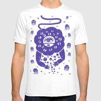 Beneath The Sea Mens Fitted Tee White SMALL