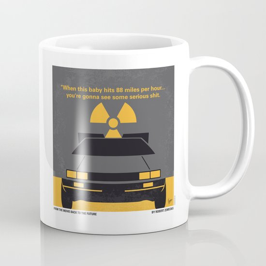 No183 My Back to the Future minimal movie poster Mug