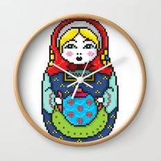 16bit Matrioska Wall Clock