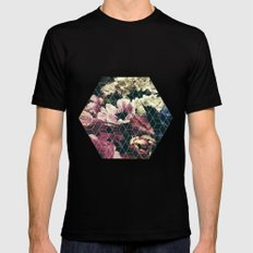 Spring Geometry SMALL Black Mens Fitted Tee