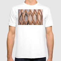 Rusted Steel Faded Wood Mens Fitted Tee White SMALL