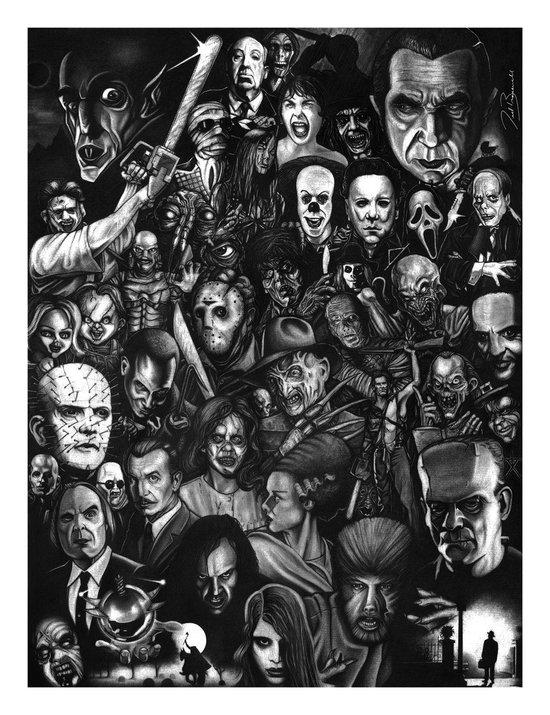 Many Faces Art Print