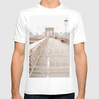 New York romantic typography vintage photography Mens Fitted Tee White SMALL